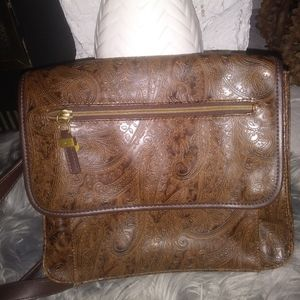 Leather handcrafted purse crossbody